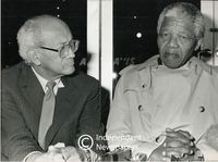 Nelson Mandela and Reggie September, Cape Town