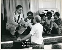 Allan Boesak at a UDF [United Democratic Front] meeting, Cape Town