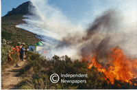 Mountain fire, Cape Town