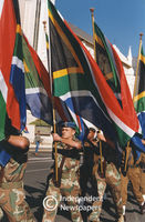 South African flag, Cape Town