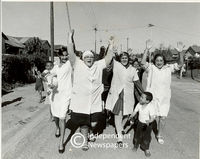 Maitland Garden Village residents celebrating, Cape Town