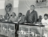 Moosa Kaprey speaks at a UDF meeting, Cape Town