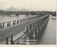 Bridge over lagoon in Milnerton, Cape Town