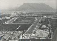 Aerial view of Milnerton Racecourse, Cape Town