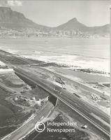Aerial view of Otto du Plessis Drive, Cape Town