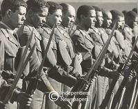 Cape Coloured Corps rehearse for Military Tattoo, Cape Town