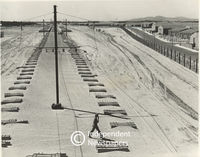 Railway lines being constructed at Mitchell's Plain, Cape Town