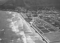 Aerial view of Muizenberg