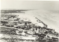 Aerial view of Muizenberg in 1910, Cape Town