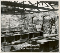 The remains of the Mowbray wash house after a fire, Cape Town