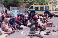 Pagad members praying, Cape Town