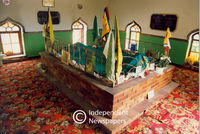Inside a shrine where the gave of Sayed Abdurahman Motura is located, Cape Town