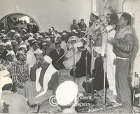 Man talks to congregation, Cape Town