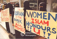 Muslim women protest, Cape Town