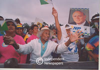 Crowds gather in support of the National Party, Cape Town