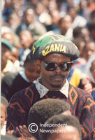 Pan African Congress (PAC) supporter at a rally, Cape Town
