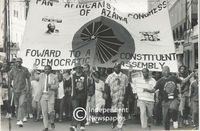 PAC supporters at a protest, Cape Town