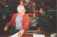 Joe Slovo and Jay Naidoo in Parliament, Cape Town