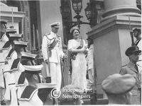 King George VI and Queen Elizabeth at the opening of Parliament, Cape Town