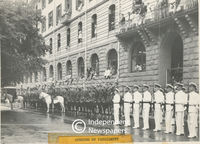 South African police and navy at the opening of parliament, Cape Town