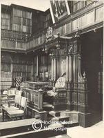 The Speaker's chair at the Union House of Assembly, Cape Town