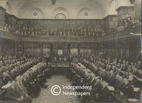 Parliamentary officials sit for a photograph, Cape Town
