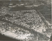 Aerial view of Pinelands, Cape Town