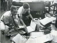 Files on apartheid-era migrant labourers at Langa Administration Offices, Cape Town