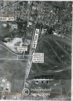 Aerial view of Kenilworth Race Course and Youngsfield Army Base, Cape Town