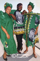 ANC supporters dress for success in the 1994 democratic elections