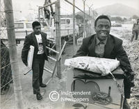 Political prisoners released from Robben Island, Cape Town, 1990
