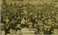 Crowd at ANC meeting, Cape Town, 1950s