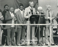 Nelson Mandela and ANC leaders, Cape Town