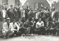 Prisoners from Robben Island pose for photo , Cape Town