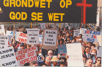 Christians protest about a constitution based on the laws of God, Cape Town