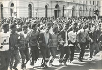 Students march in protest over the education system, Cape Town