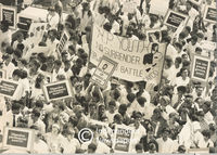 People protest for the dissolution of parliament, Cape Town