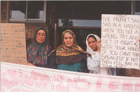 Muslim women protest over the violence in the community, Cape Town