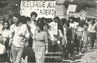 People protest for the release of political prisoners, Cape Town