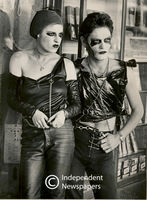 Two punk-rock performers pose for the camera, Cape Town