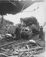 The remains of a train accident, Cape Town
