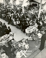 Allan Boesak speaks at a funeral service, Cape Town