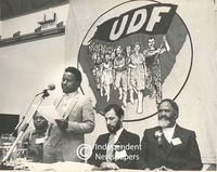 Frank Chikane speaks at a UDF gathering, Cape Town
