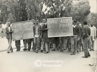 Pupils protests for the release of their friends, Cape Town