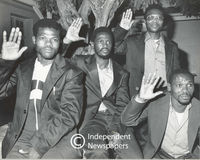 Freed prisoners give the PAC salute, Cape Town