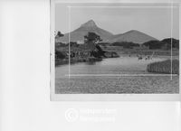 Milnerton Lagoon with Lion's Head and Signal Hill in the background, Cape Town