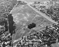Aerial view, Rondebosch Common, Cape Town
