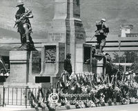 Annual war memorial ceremony, Cape Town