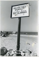 Apartheid beach signage, Cape Town