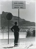 Apartheid signage at Hout Bay beach